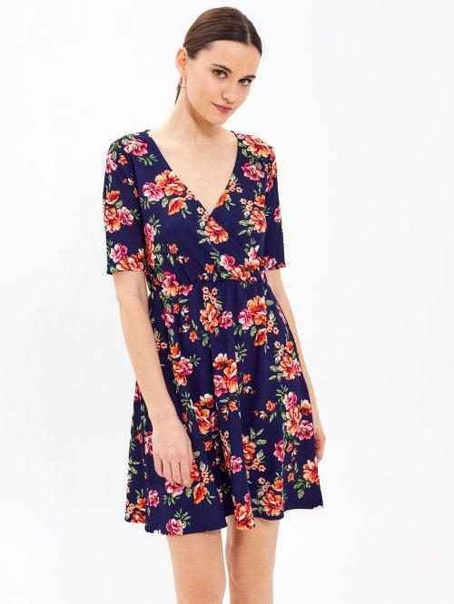 ba02b27327 Šaty s kvetinovou potlačou