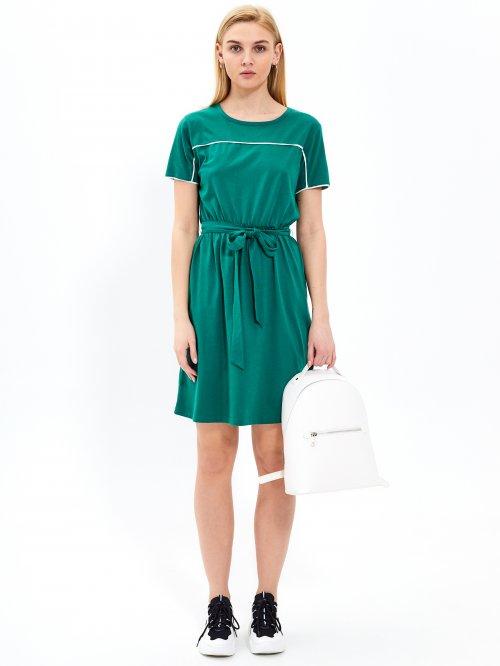 ba1ca52af848 Tričkové šaty s opaskom