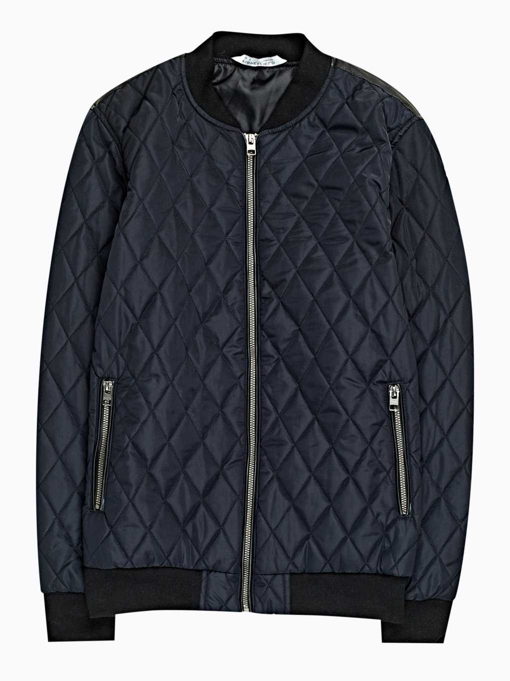 Quilted bomber jacket
