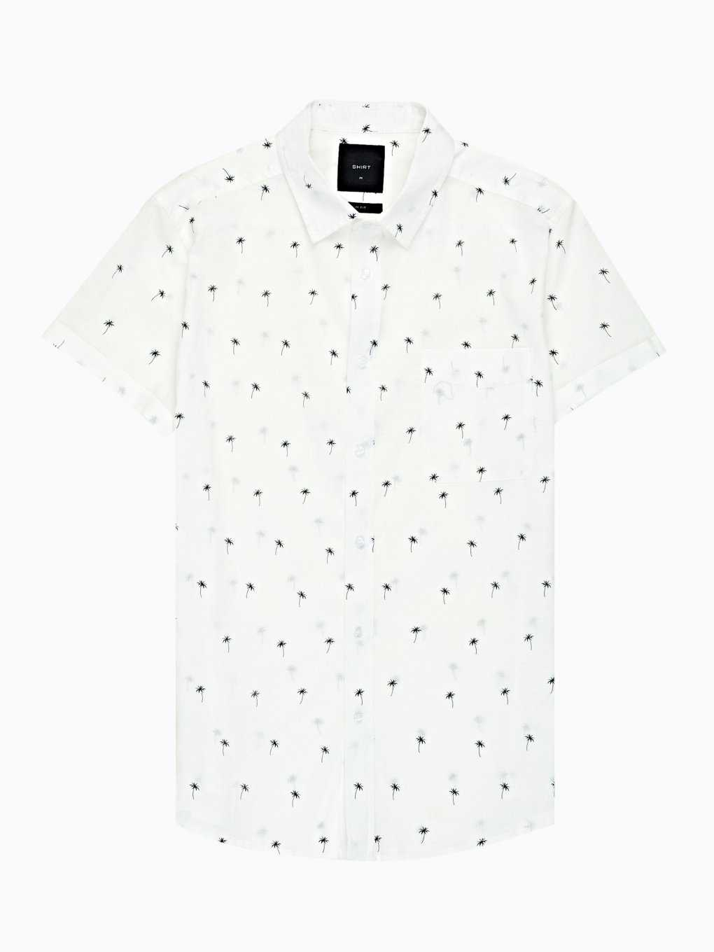 Cotton slim fit shirt with print