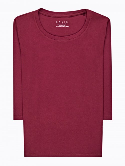 Basic jersey t-shirt with 3/4 sleeve