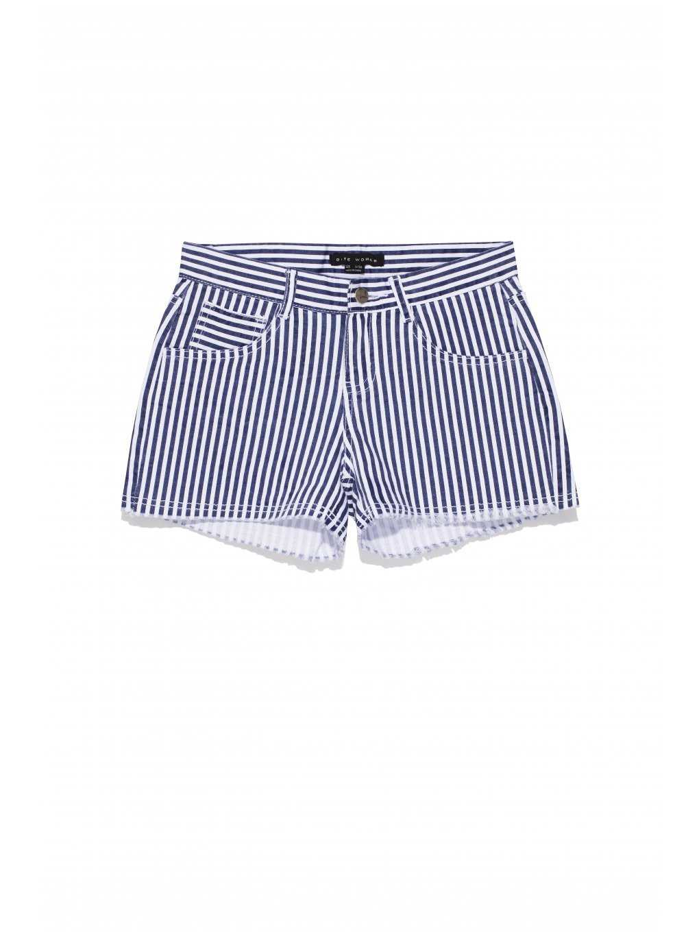 Striped stretch shorts