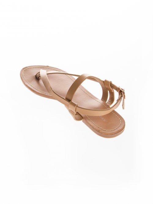 21487f0b53fa Sandále s rovnou podrážkou
