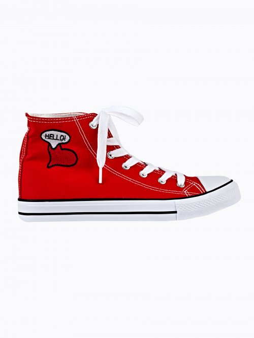 PATCH HI-TOP SNEAKERS