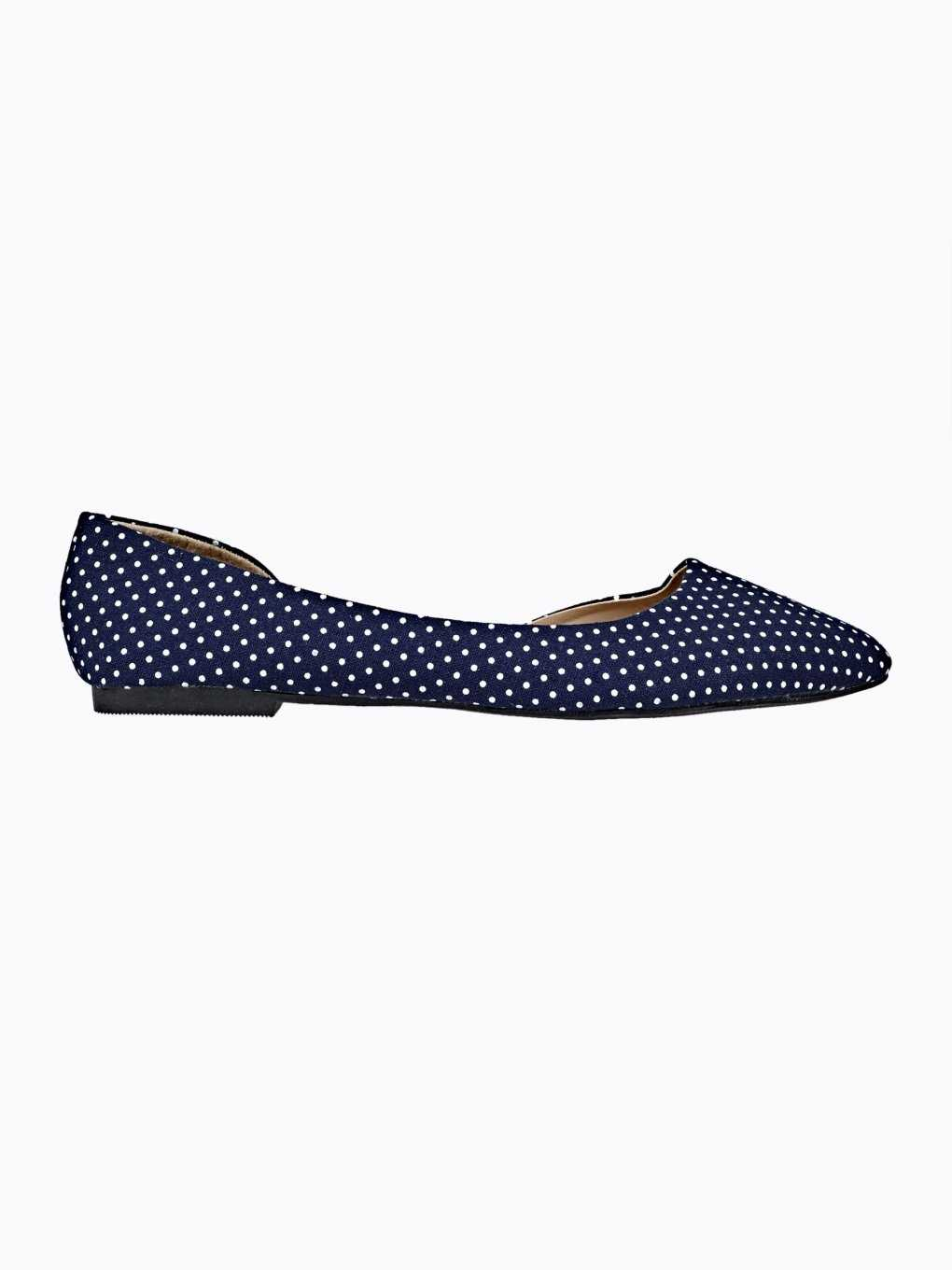 POLKA DOT CUT OUT BALLERINAS