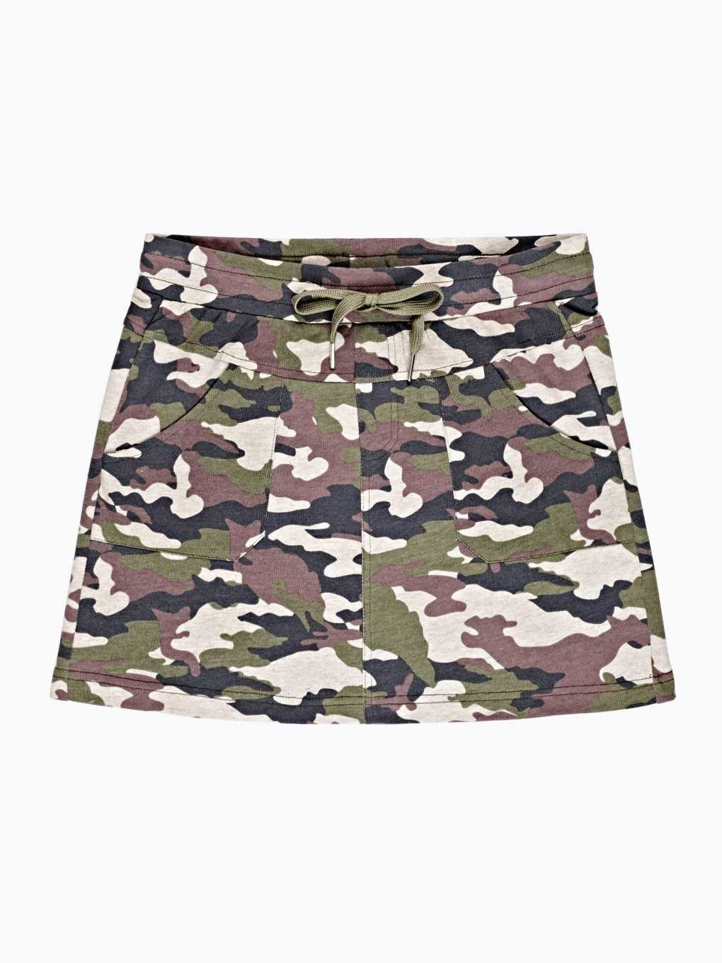 CAMO PRINT MINI SKIRT WITH POCKETS