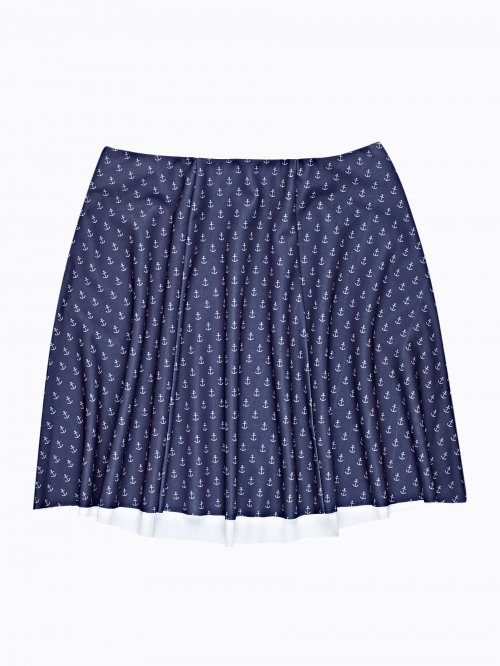 ANCHOR PRINT A-LINE SKIRT