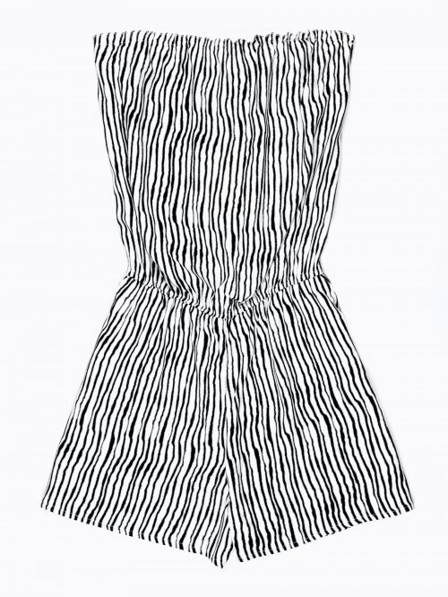 STRIPED SHORT JUMPSUIT