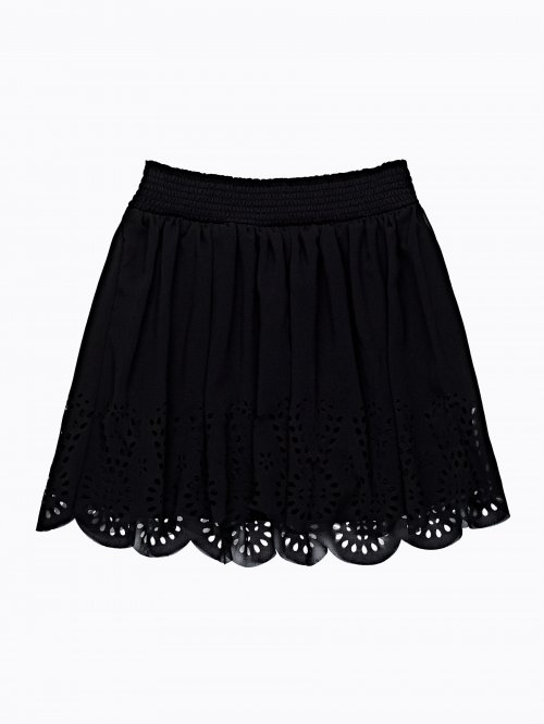 PERFORATED A-LINE SKIRT