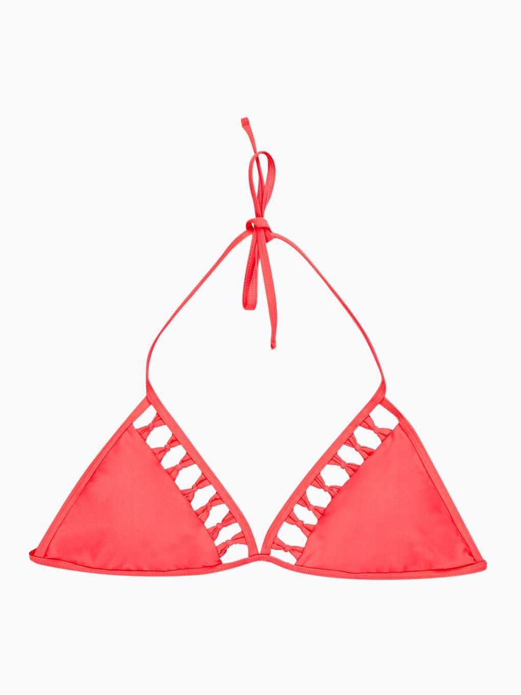 Bikini top with cutouts