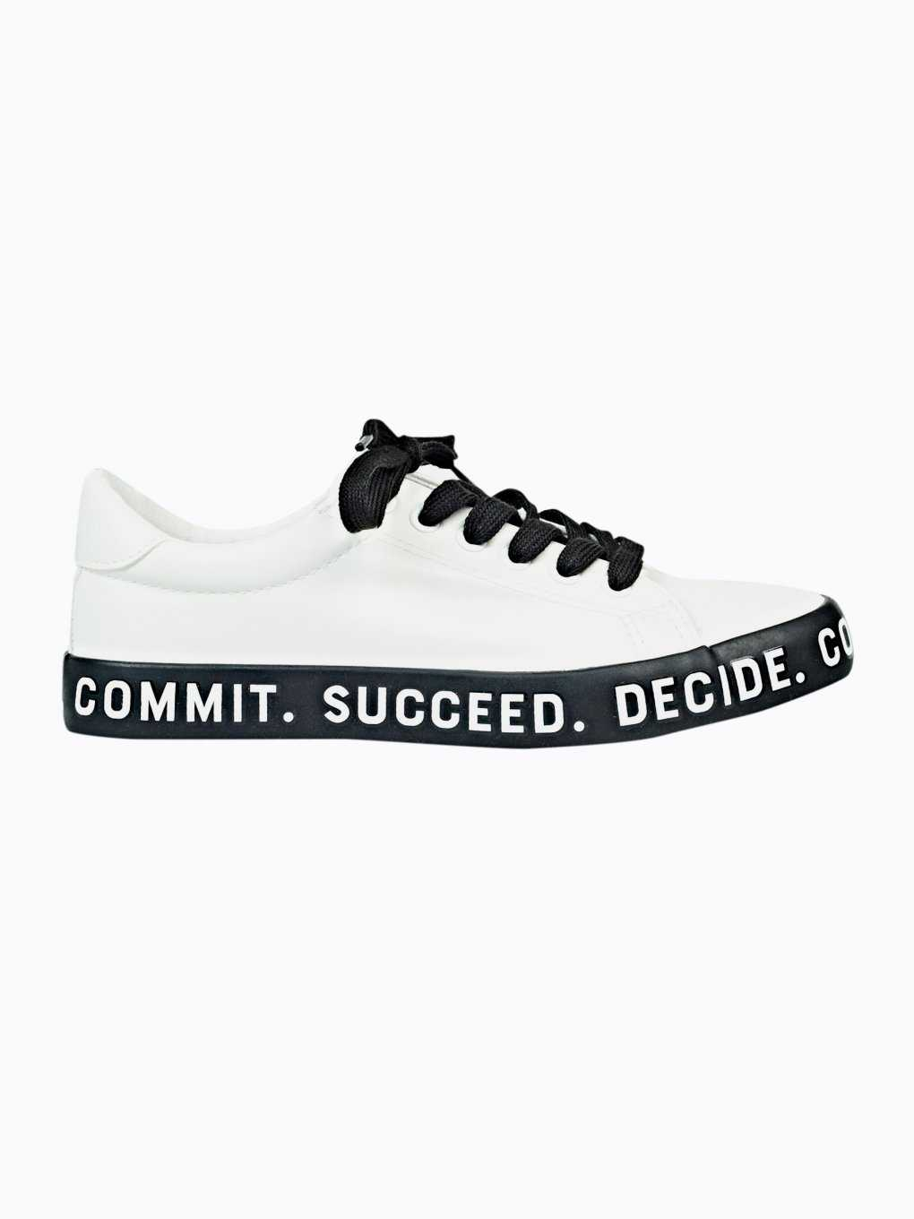 Sneakers with message print