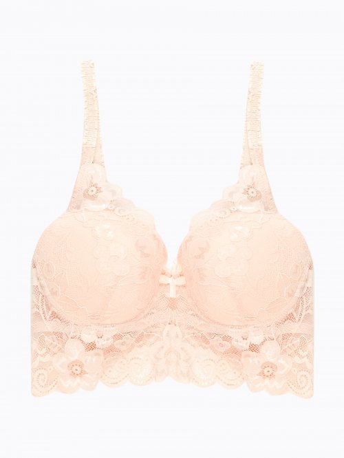 Push-up lace bralette