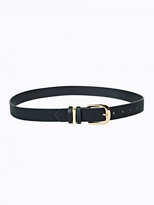 Basic belt with metal buckle