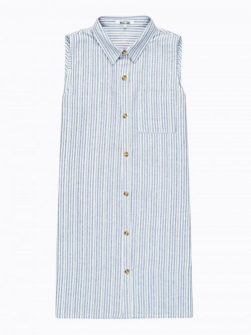 0c7cbbb42595 Dlhá prúžkovaná košeľa bez rukávov