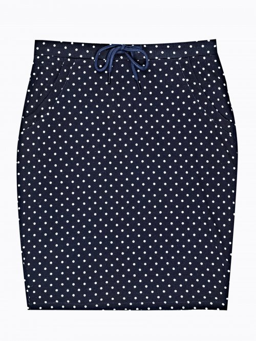 2f733b557a8f Bodkovaná puzdrová sukňa