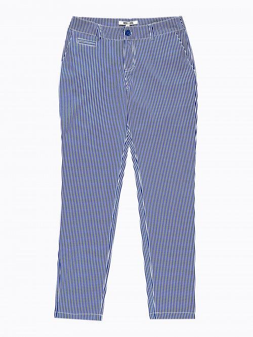 19091c6774e3 Prúžkované strečové nohavice