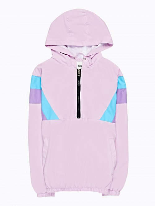 Colour block windbreaker