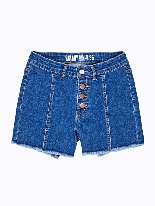 Slim fit denim shorts
