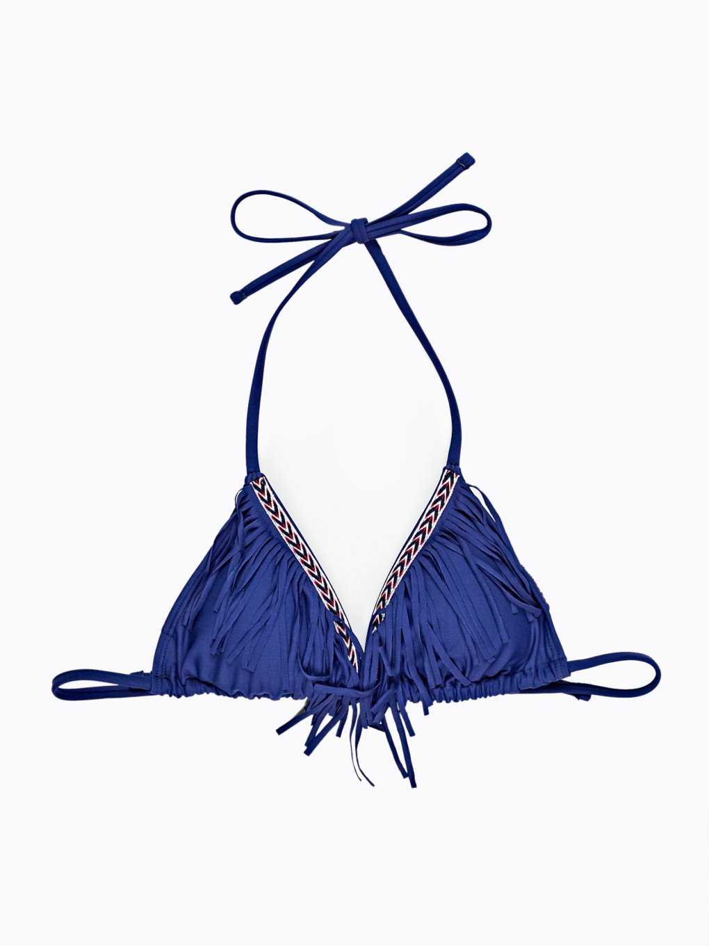 Bikini top with tassels
