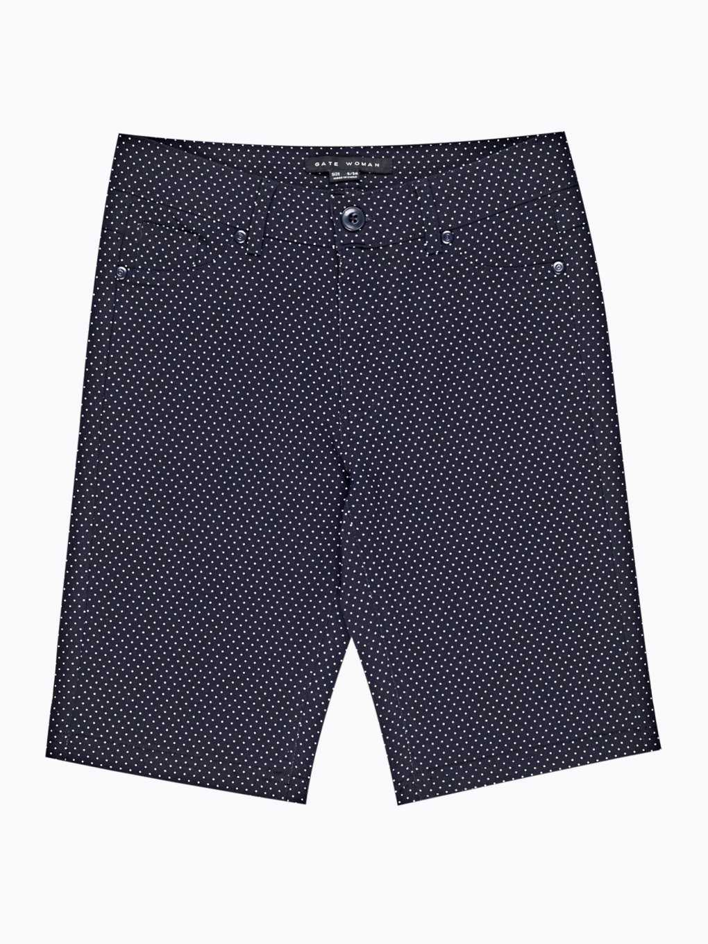 Polka dot print slim shorts