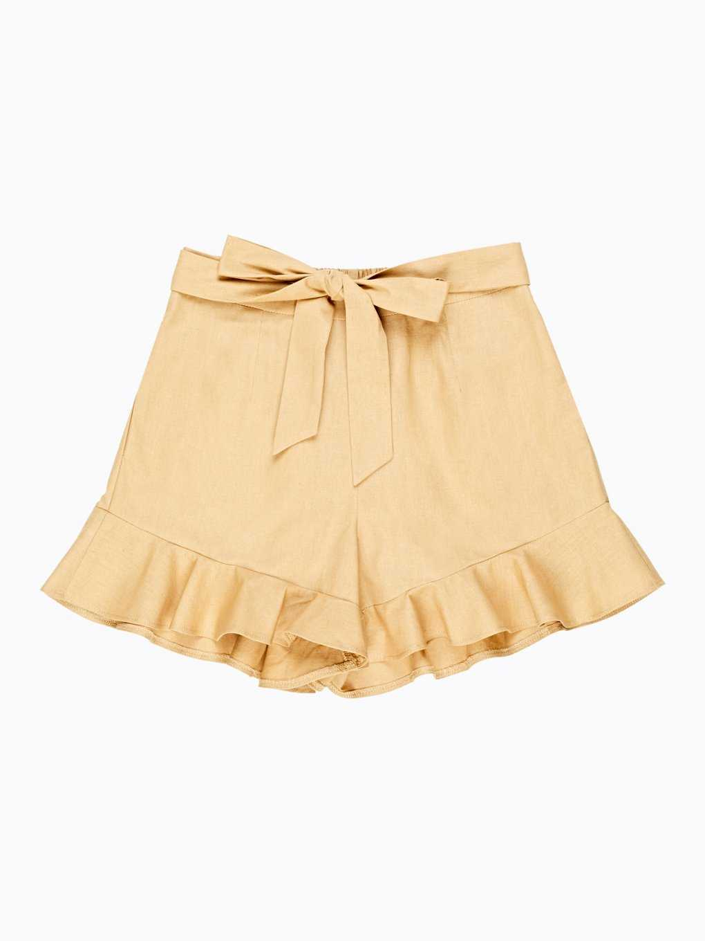 Shorts with ruffles