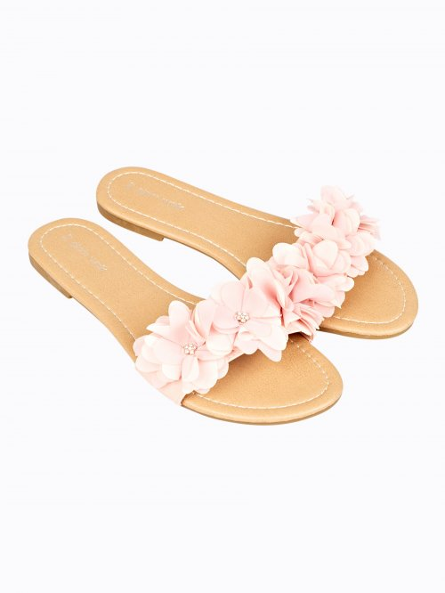 Flat slides with flowers
