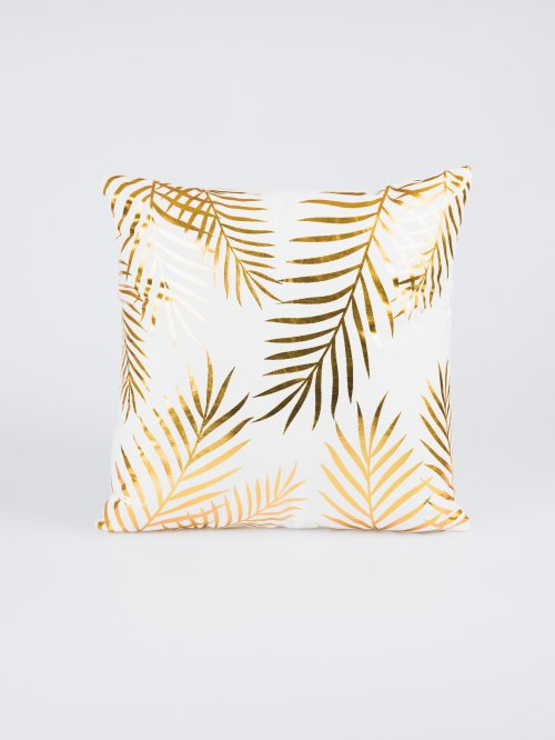 Metallic print pillow