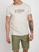MARLED T-SHIRT WITH PRINT