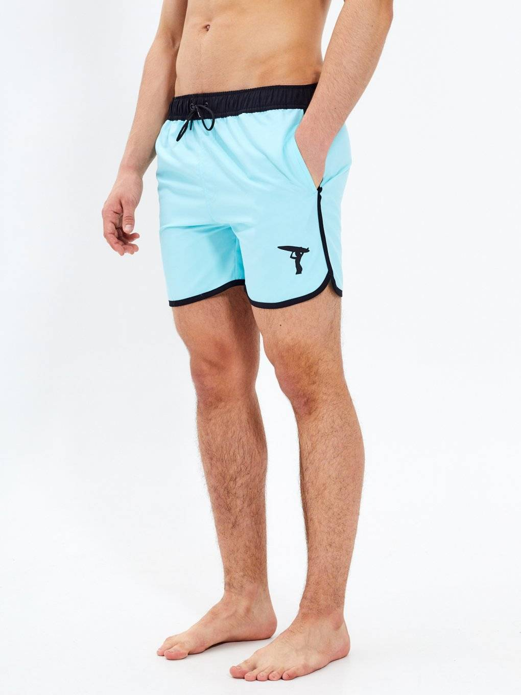 Swim shorts with contrast trim