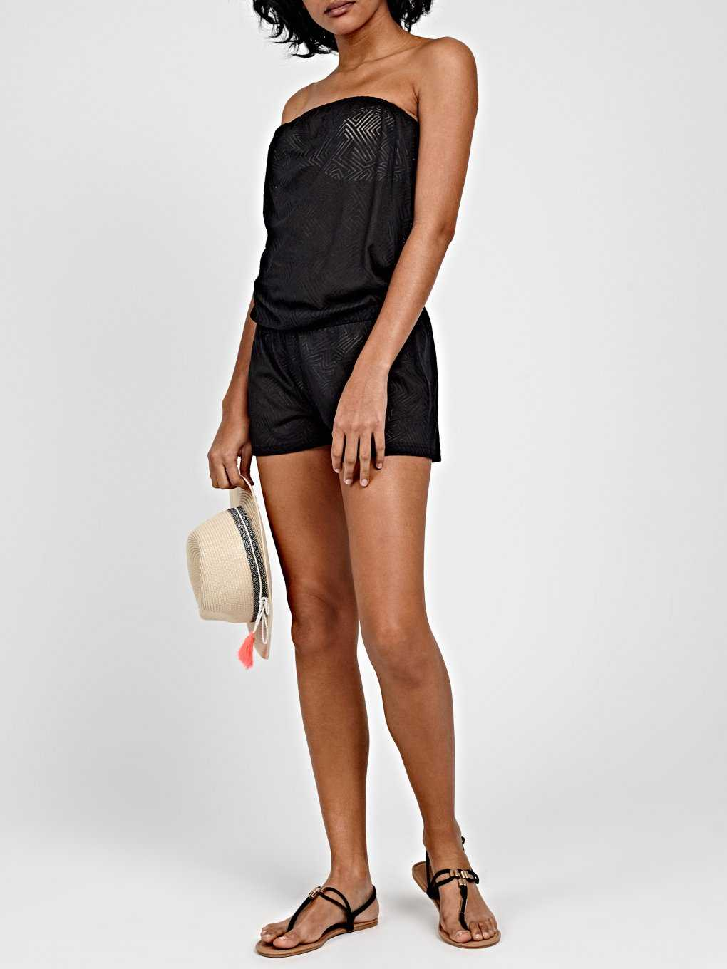 OFF-THE-SHOULDER SHORT JUMPSUIT