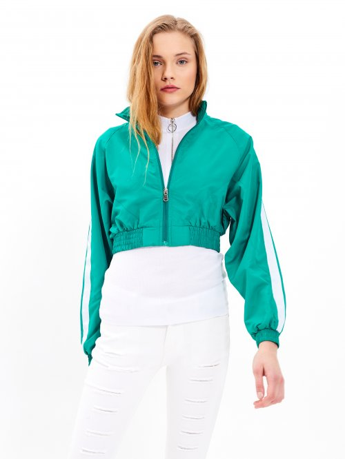 Cropped taped jacket