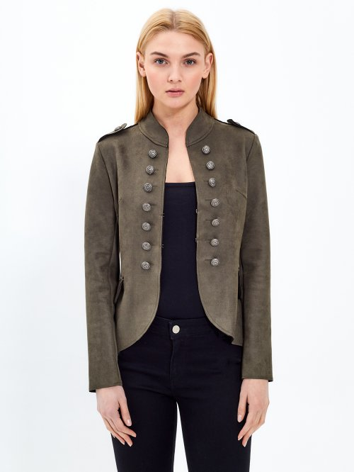 Double breasted military jacket