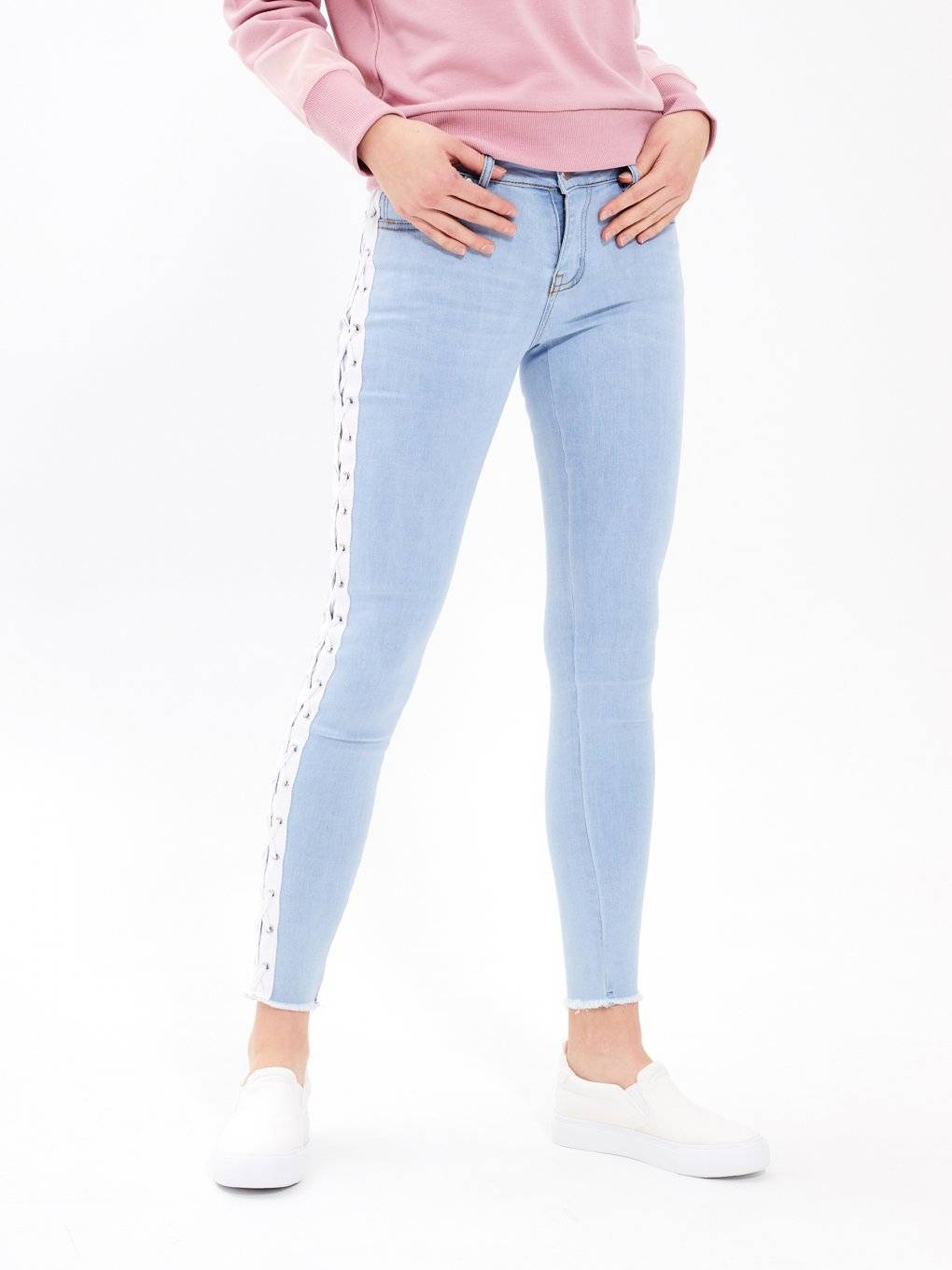 Taped skinny jeans