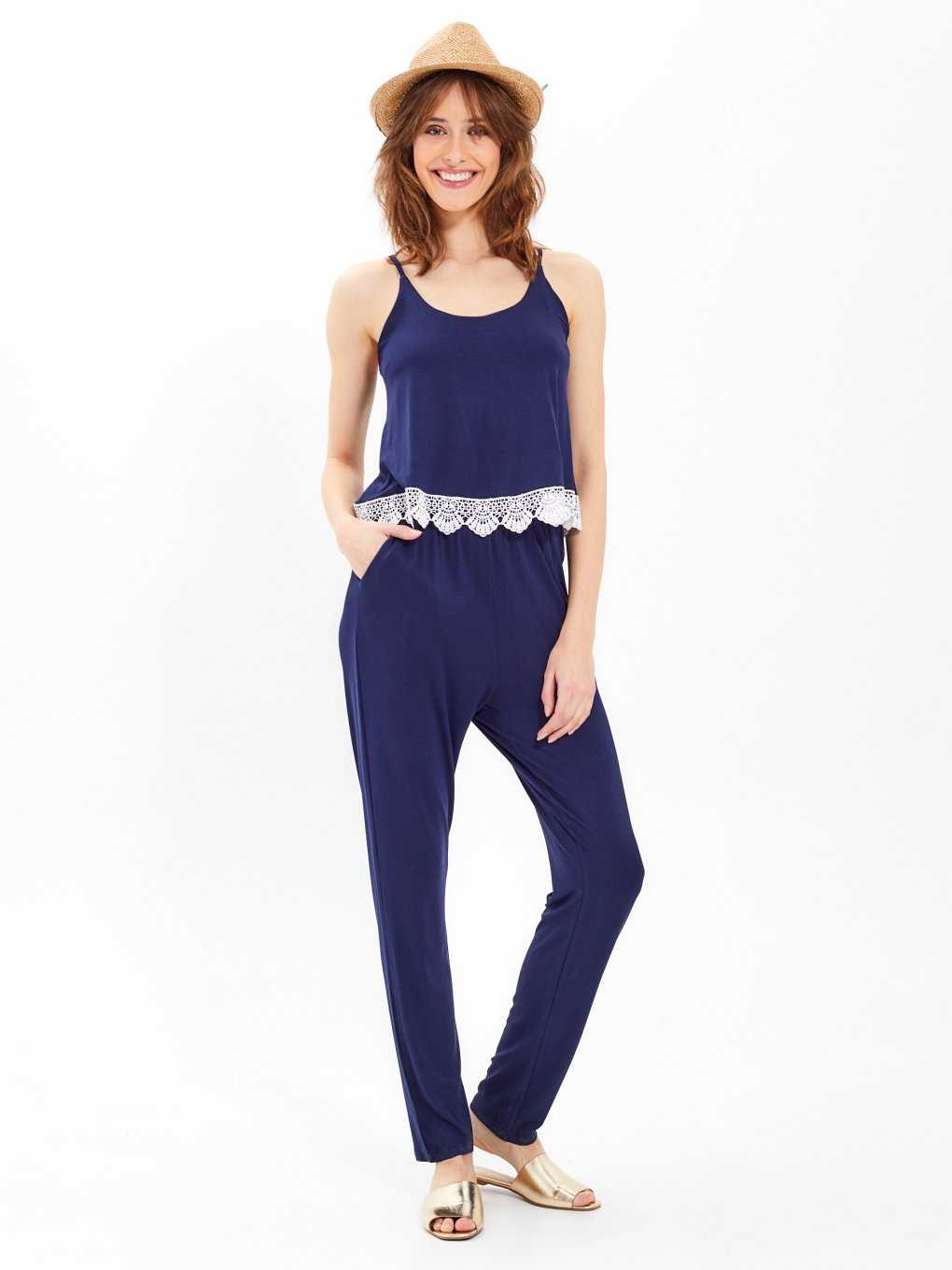 Jumpsuit with crochet