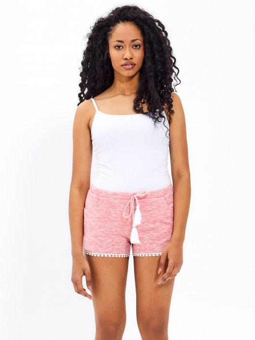 Sweat shorts with decorative trim