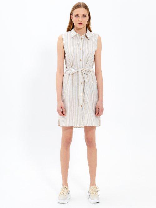 352224d01 Prúžkované košeľové šaty