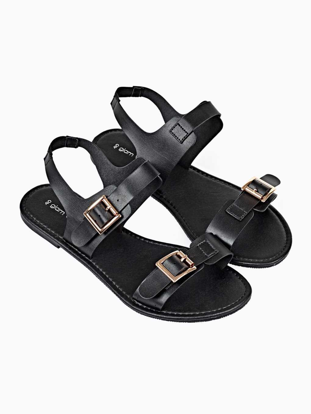 FLAT SANDALS WITH BUCKLE DETAILS