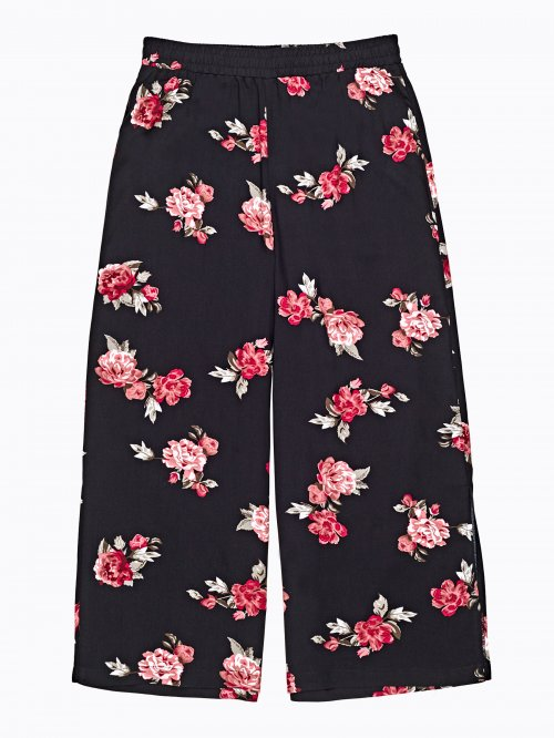 Flower print culottes