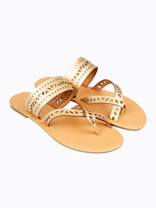 Perforated strap flat slides