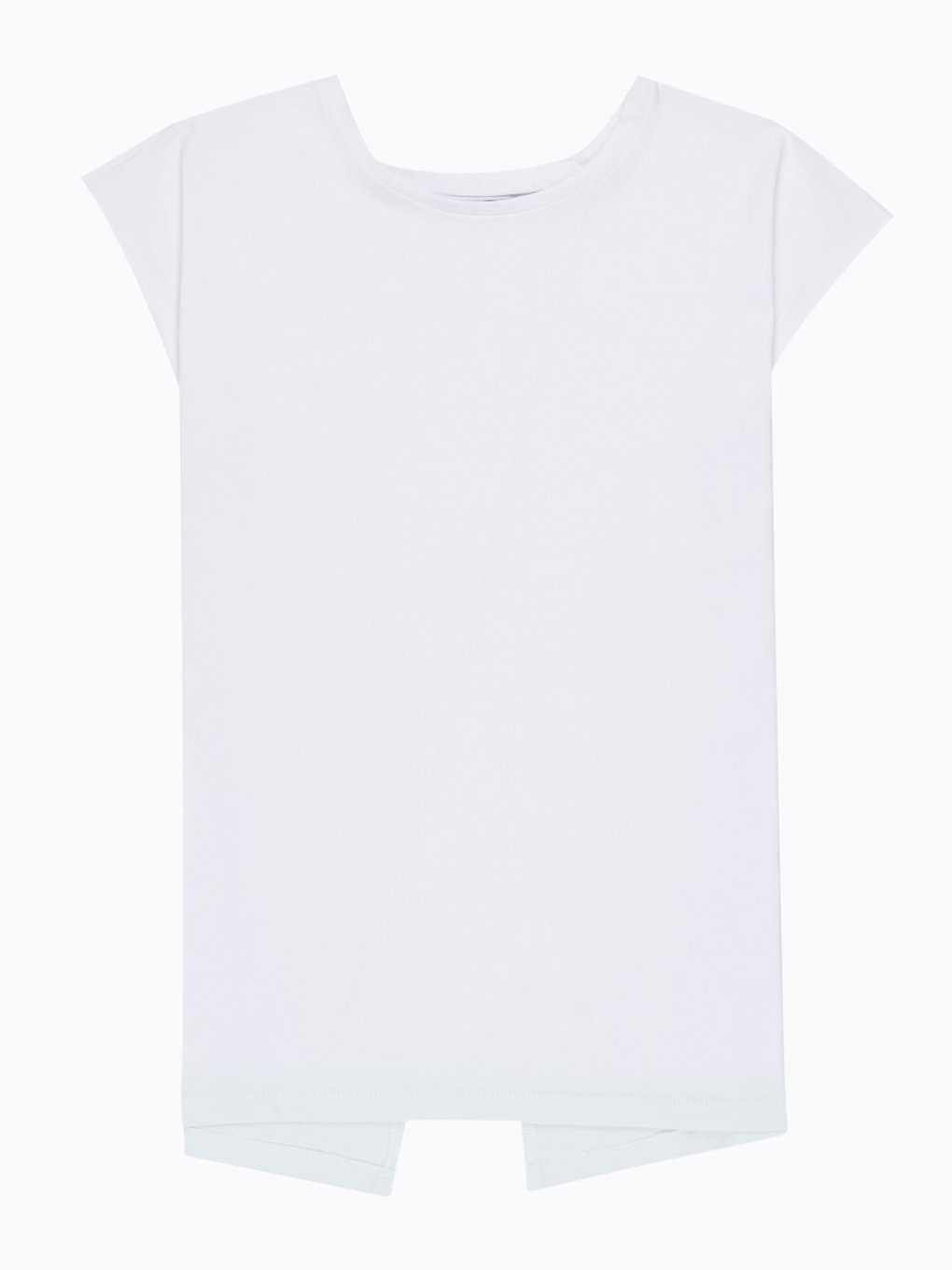 Back slit t-shirt