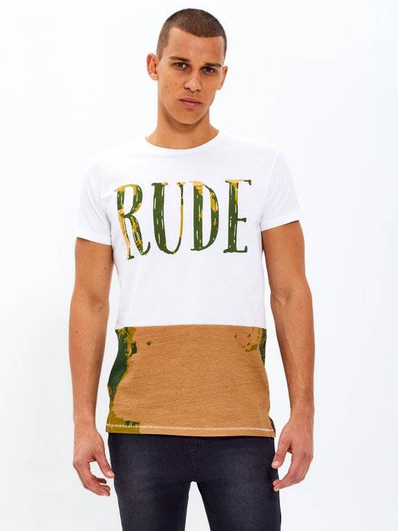 SLIM FIT T-SHIRT WITH PTINT