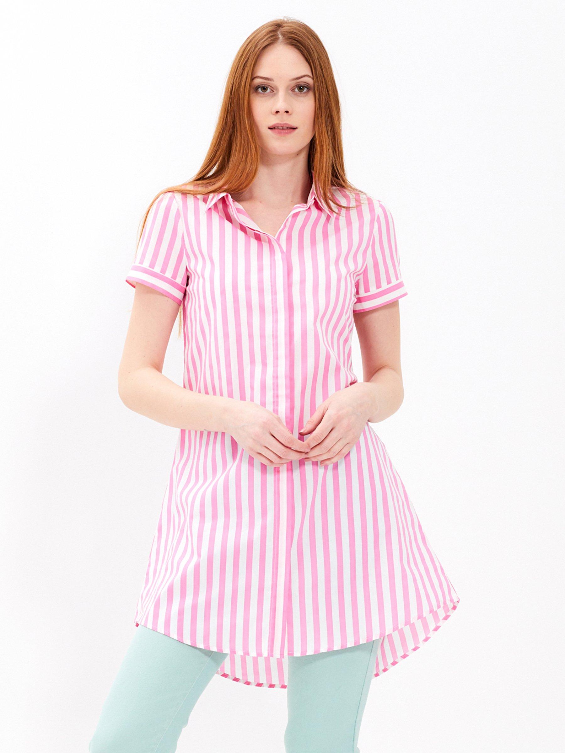 a21459b92694 Prúžkované košeľové šaty