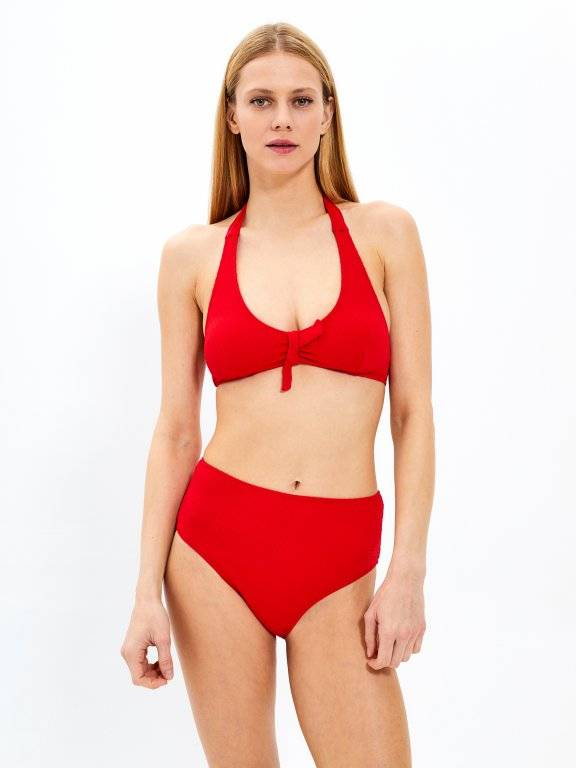 High waisted bikini bottom