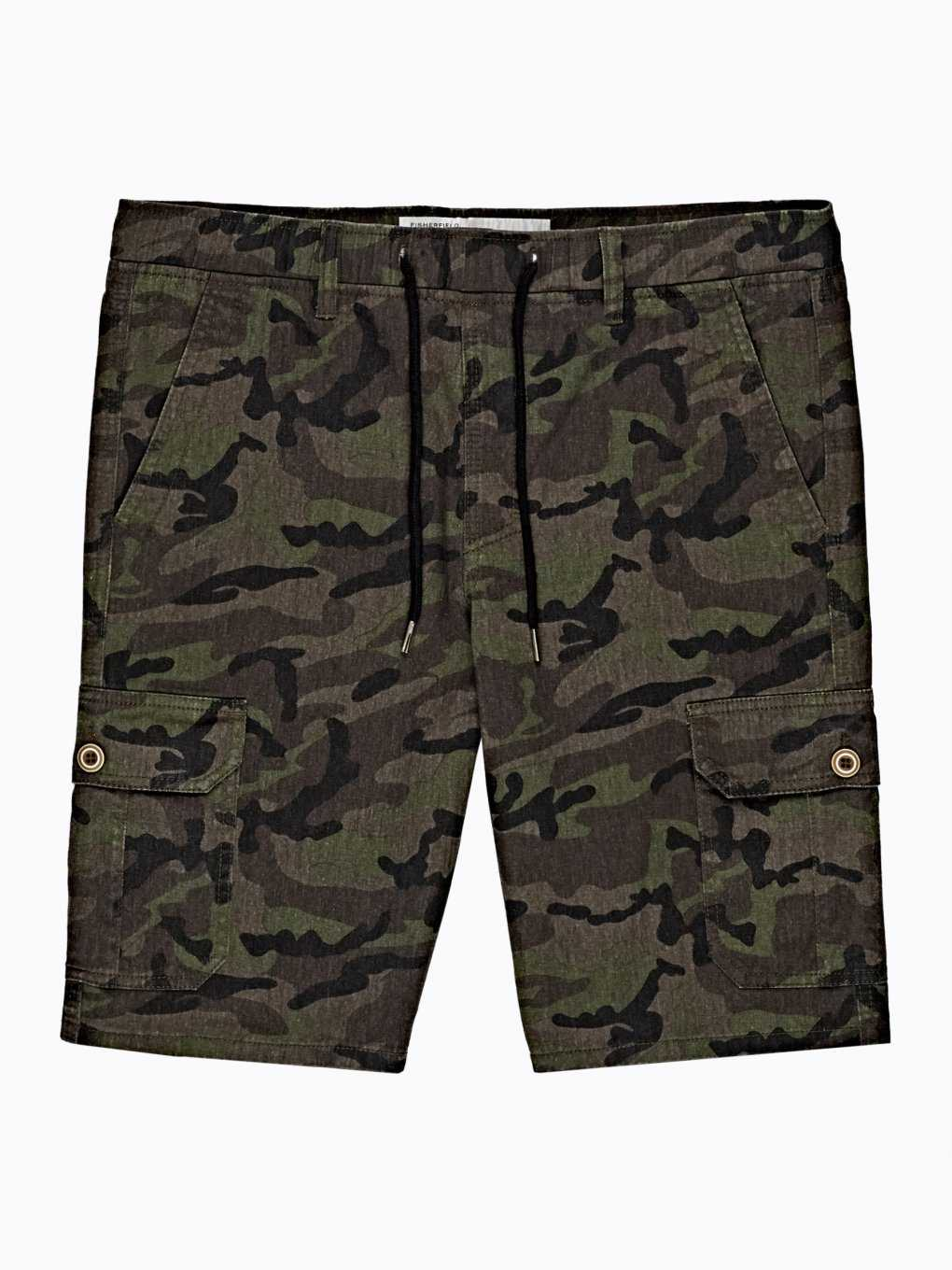CAMO PRINT COTTON SHORTS