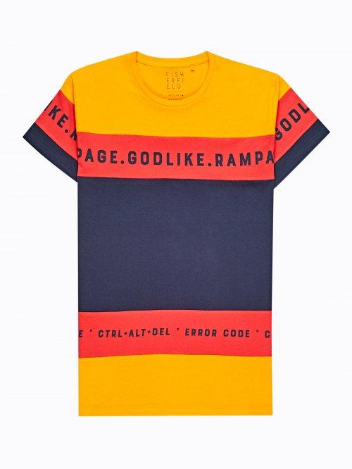 9dd1783beb0a Viacfarebné tričko s nápisom