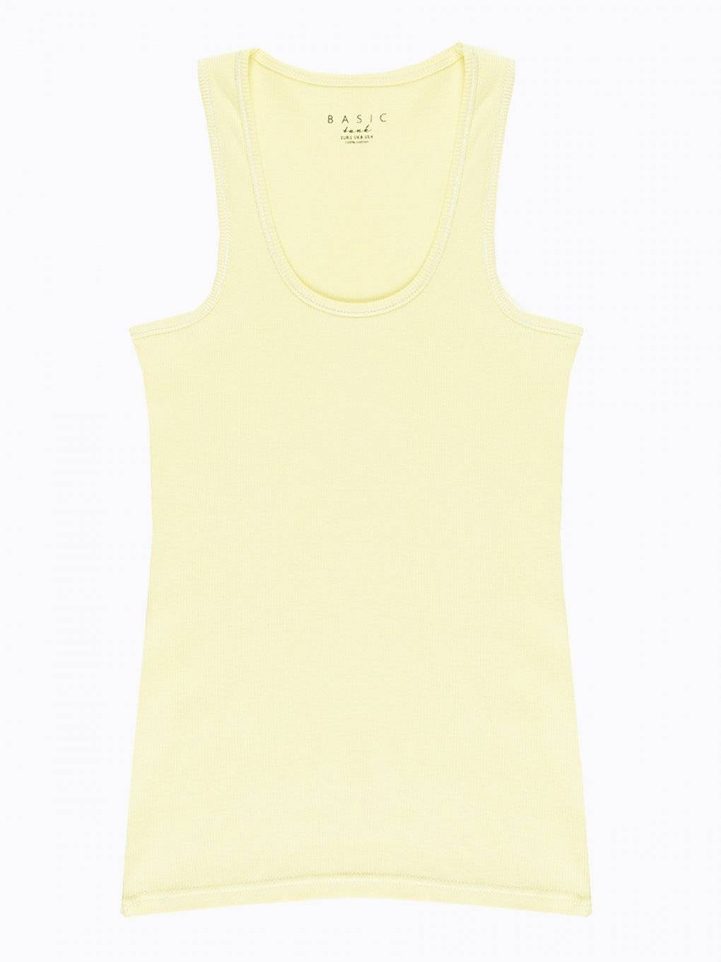 Basic rib-knit tank top