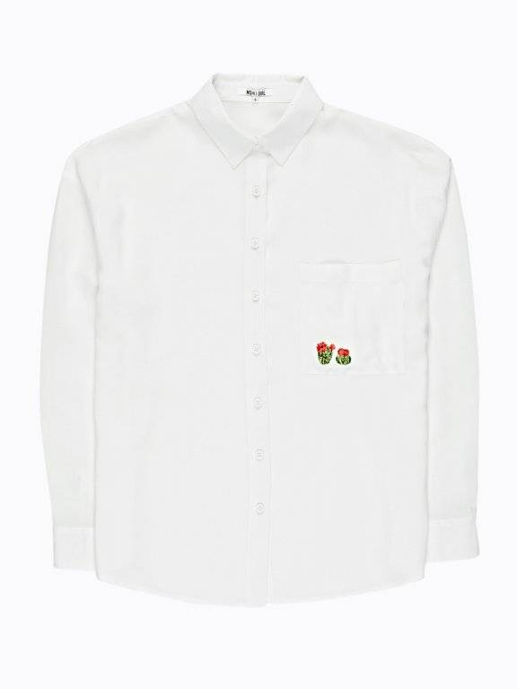 Oversized shirt with embroidery