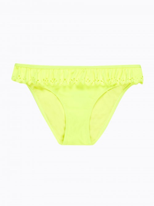 Bikini bottom with ruffle