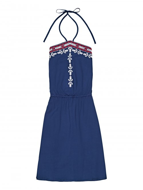 Viscose dress with embroidery