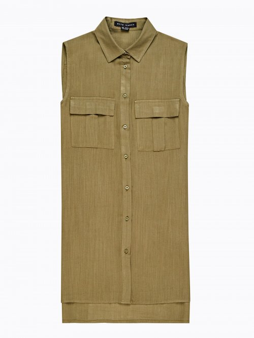 ad86d3965c84 Viskózová košeľa bez rukávov